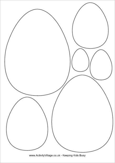 post easter egg template printable