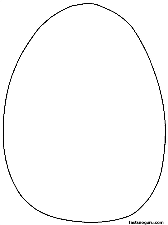 easter egg template coloring pagesml