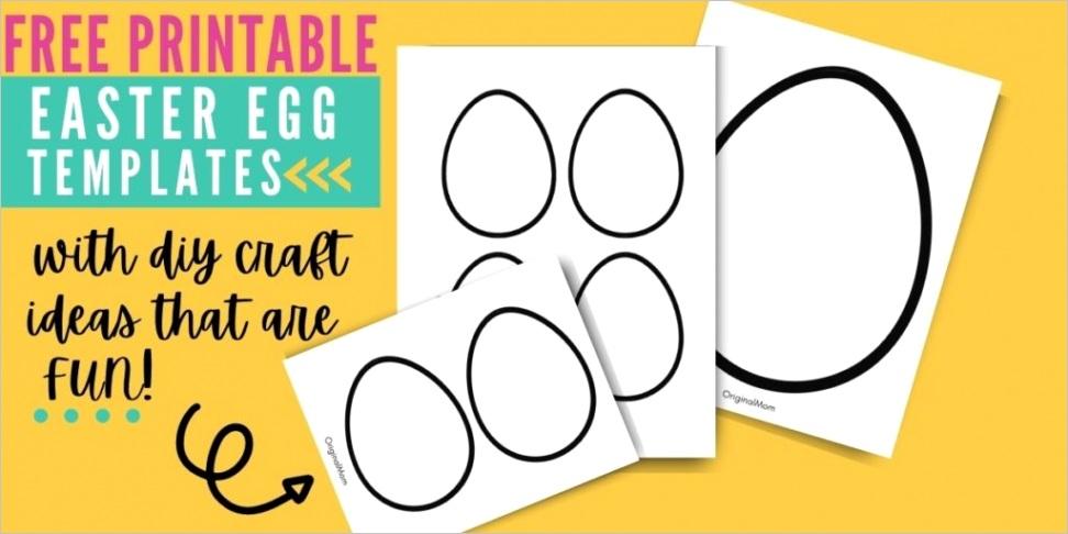 free printable easter egg template