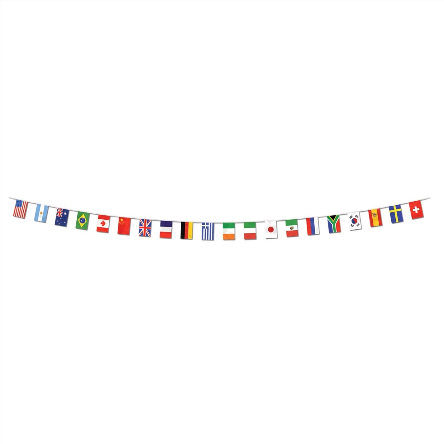 theme party international flag banner bps