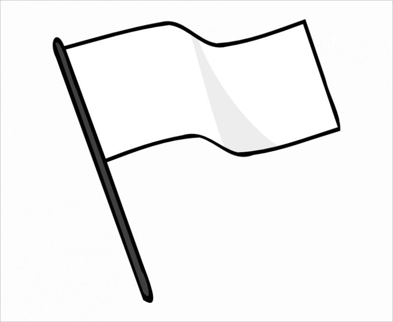 u2q8e6u2q8i1y3i1 flag banner clipart black and white white flag