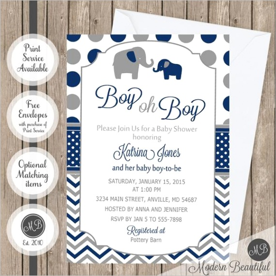 navy and gray elephant oh boy baby shower invitation elephant boy oh boy shower invitation elephant theme baby shower invitation digital or printed baby shower invitation