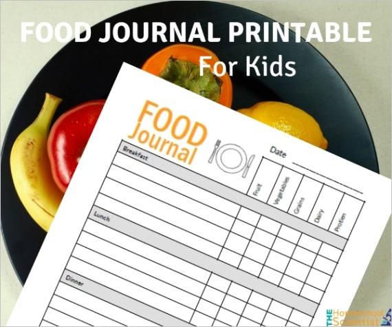 food journal printable kids