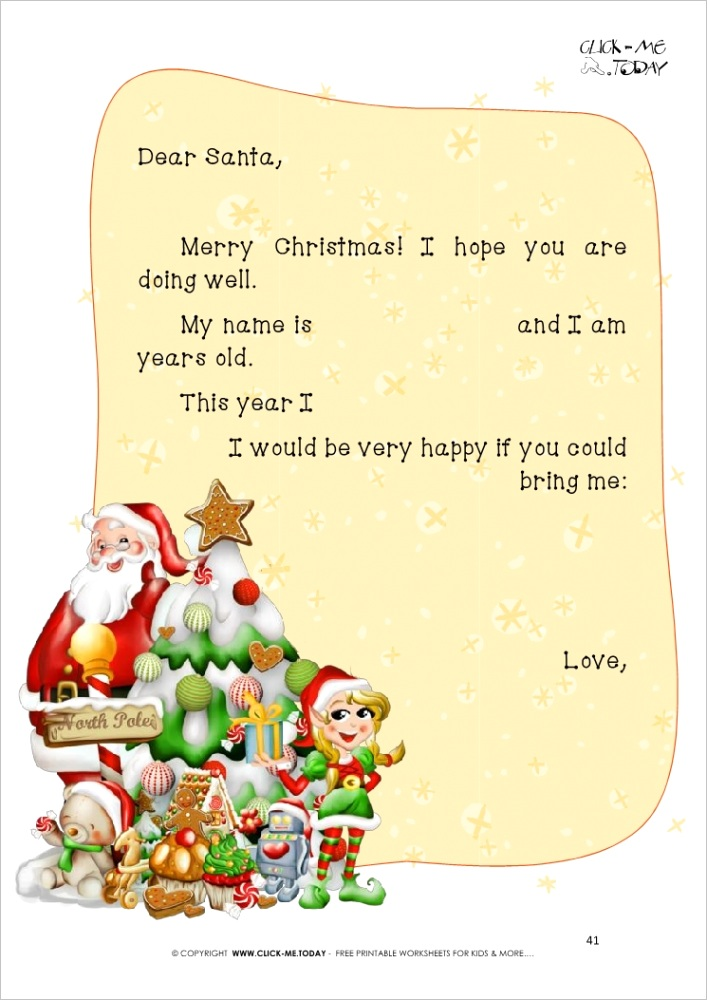3165 free printable ready to sent short letter to santa claus 41