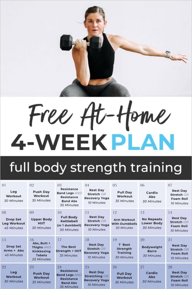 4 week workout plan 8