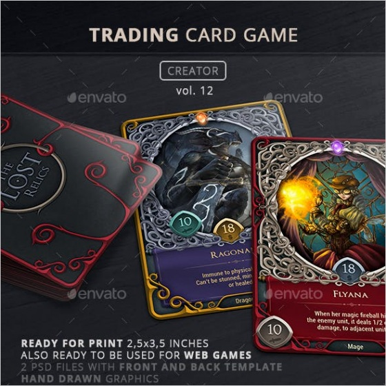 trading card in graphics