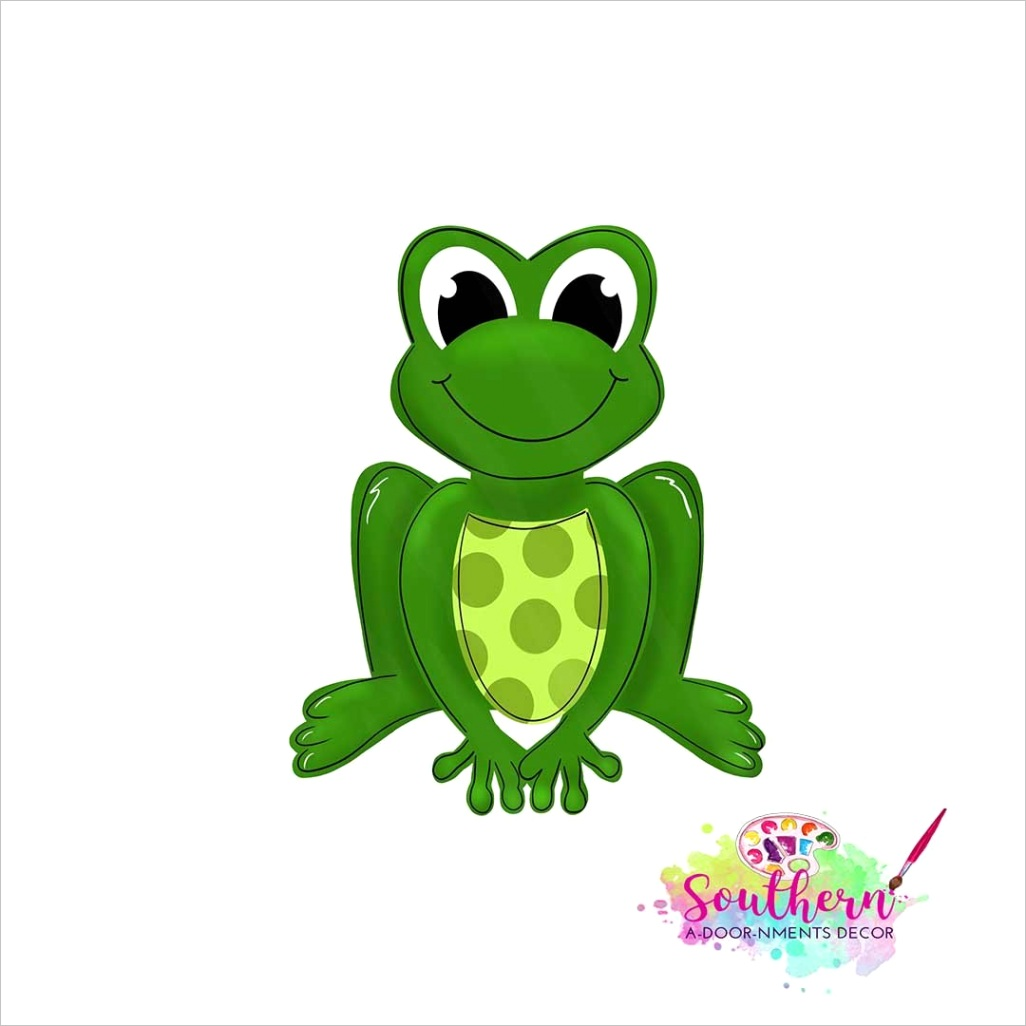 frog template digital cut file