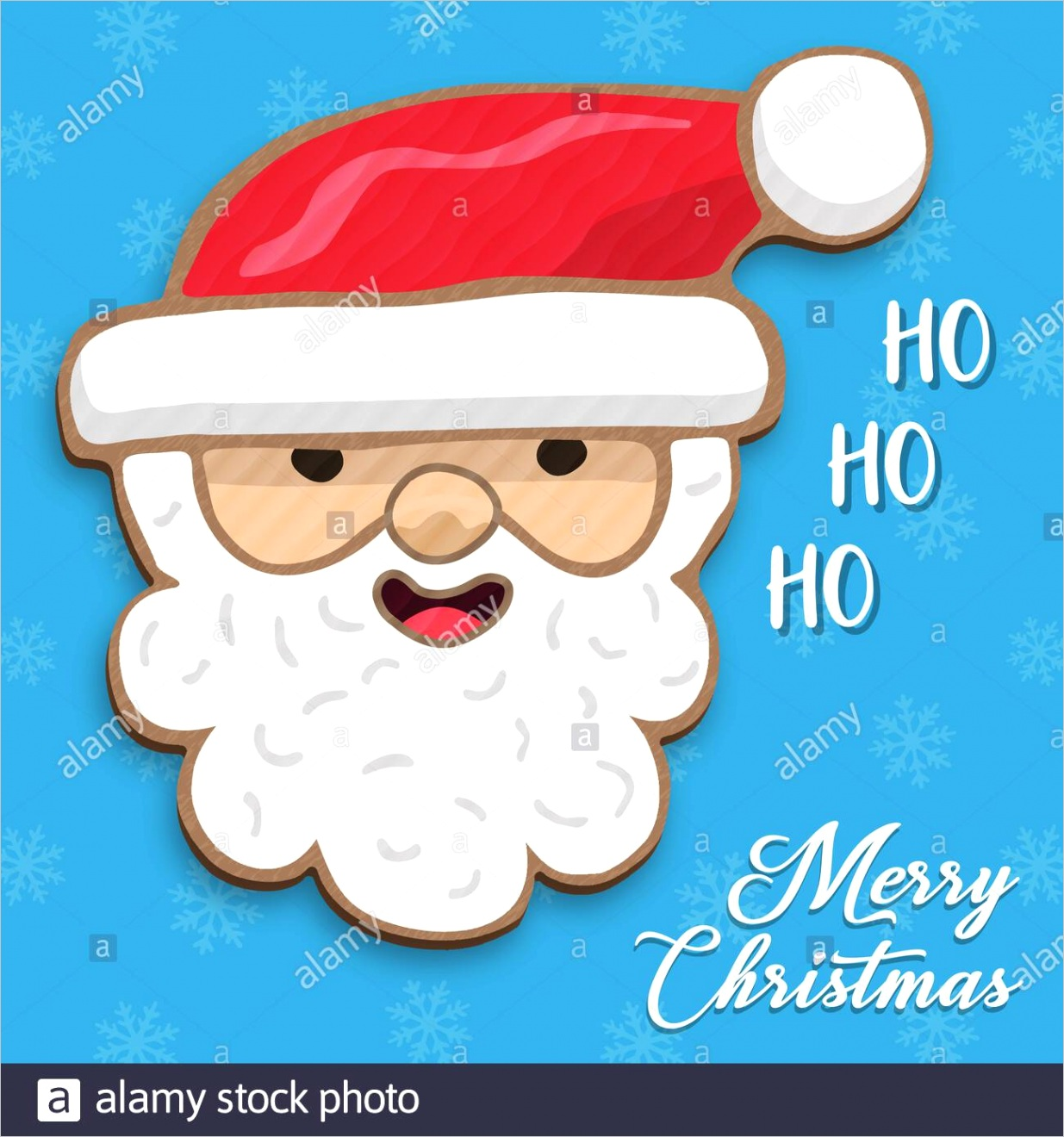 merry christmas greeting card illustration of funny santa claus face in hand drawn style traditional holiday character cartoon for xmas wishes or par image ml