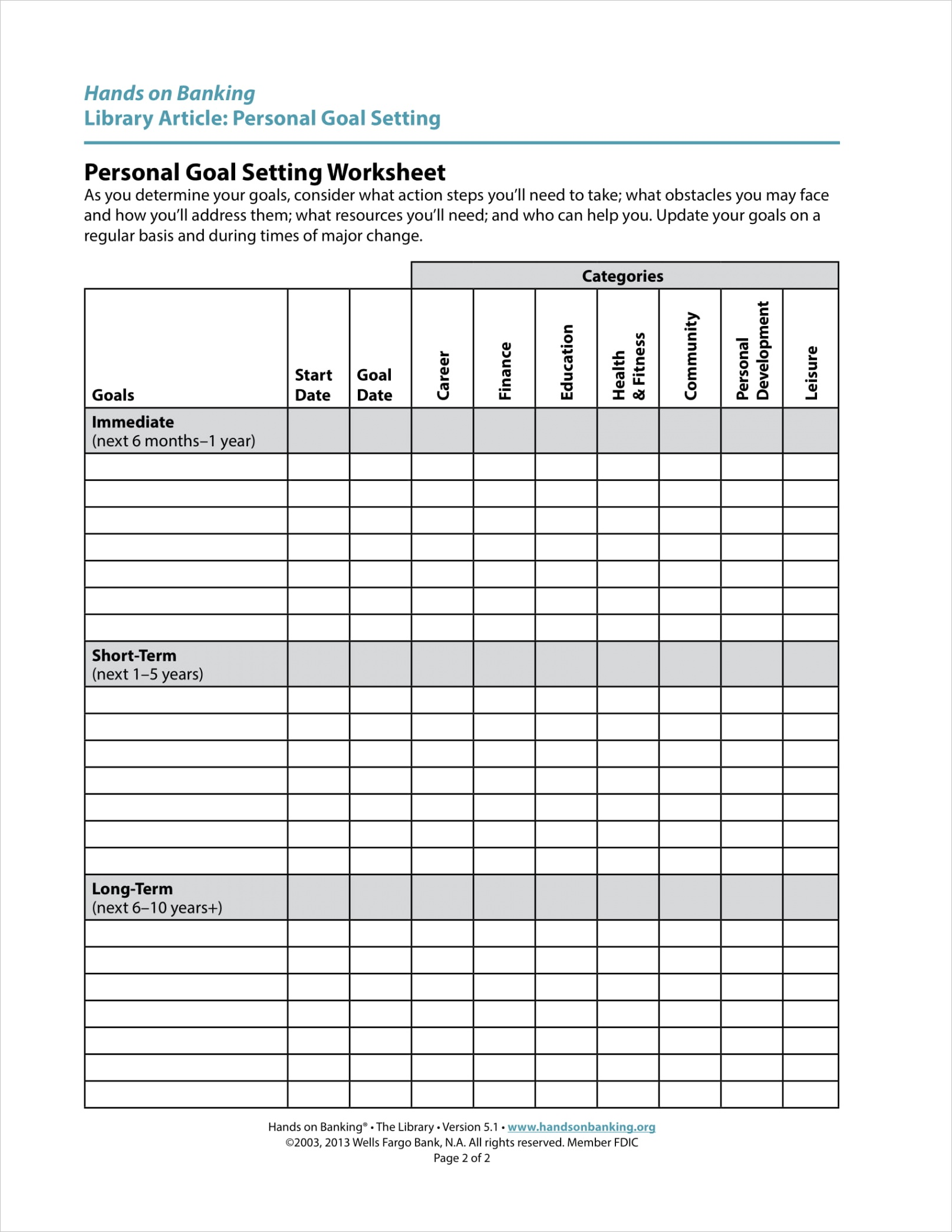 personal goal setting examplesml