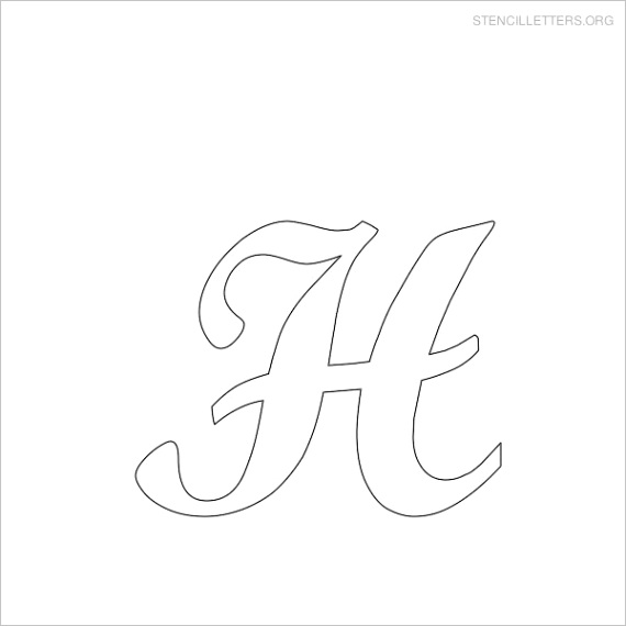 stencil letters hml