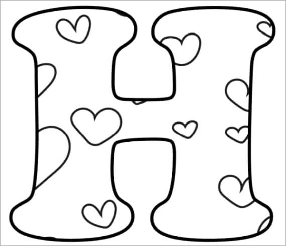free printable valentine bubble letters bubble letter h