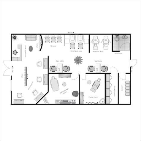 Salon and Spa Layout Design Service