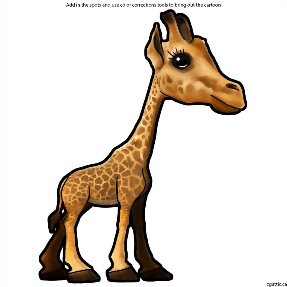 cartoon giraffe drawingml