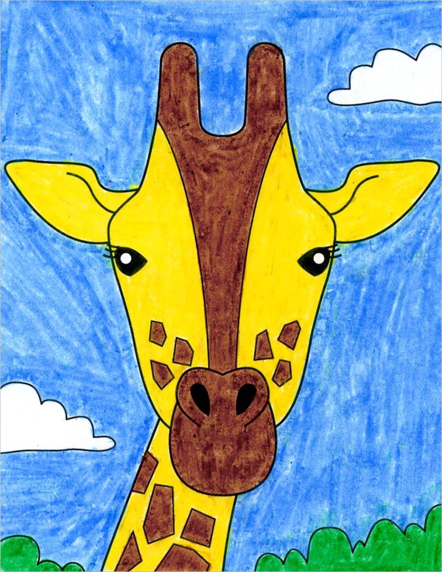 how to draw giraffe