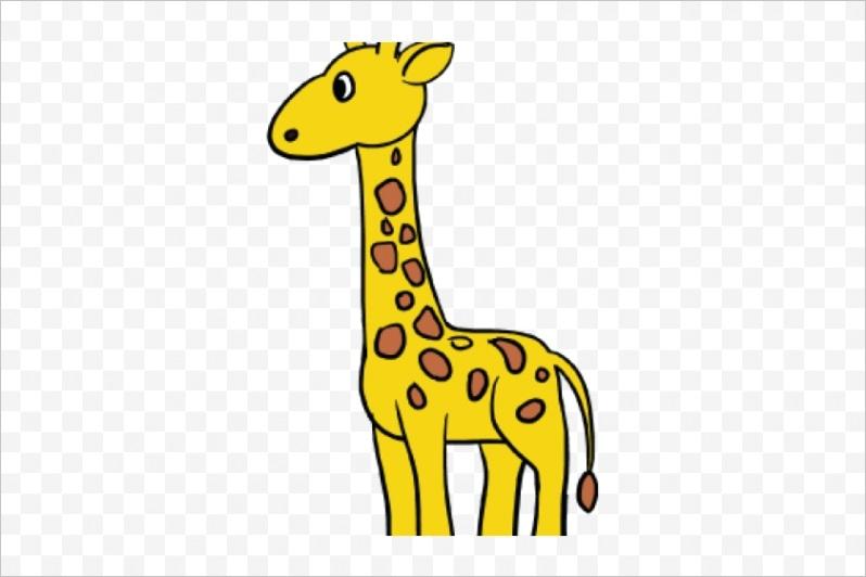 m2H7d3N4H7A0H7m2 drawn giraffe simple cartoon giraffe drawing easy