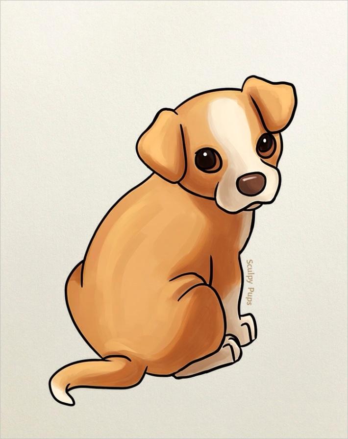 kawaii cute puppy drawingml