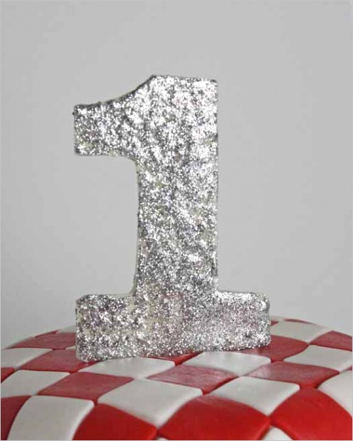 how to make a number cake topper