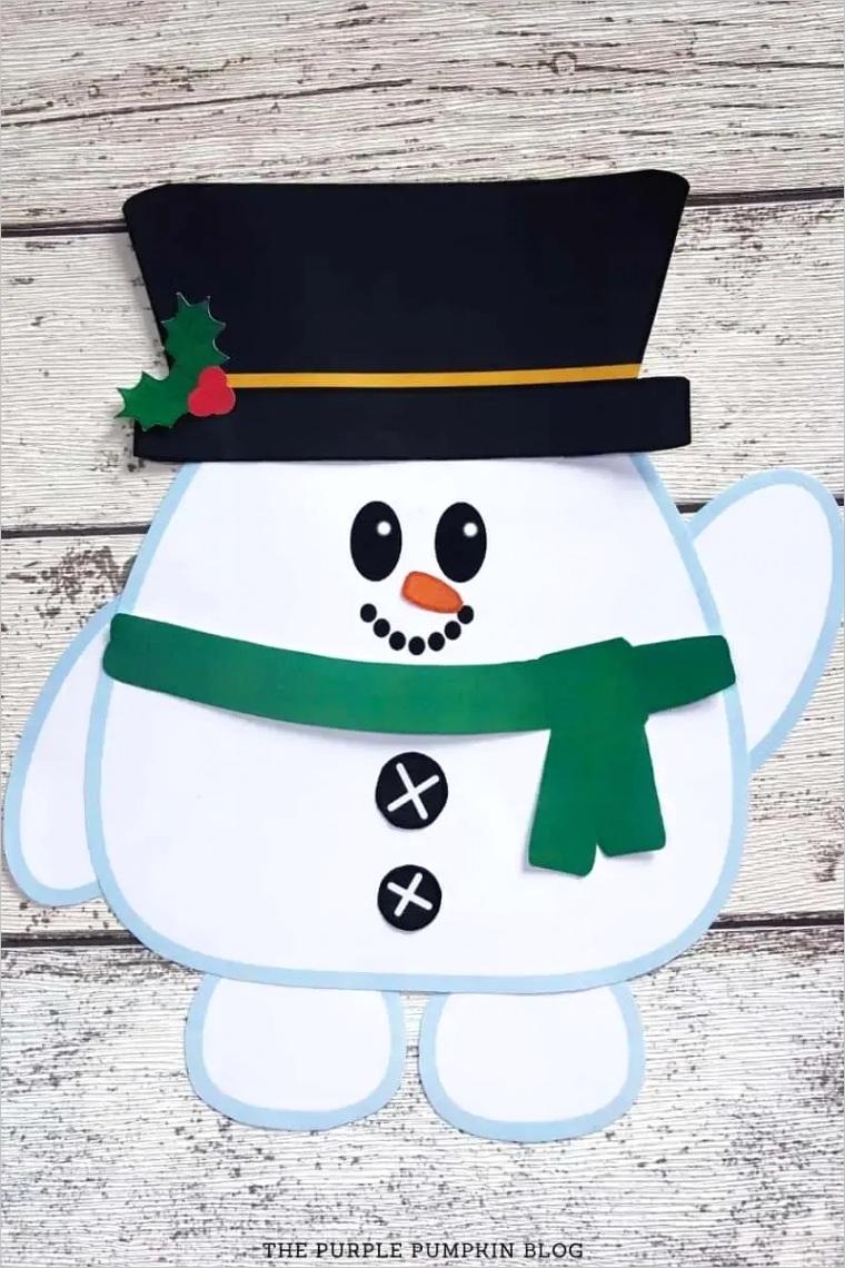 build a snowman printable paper snowman template