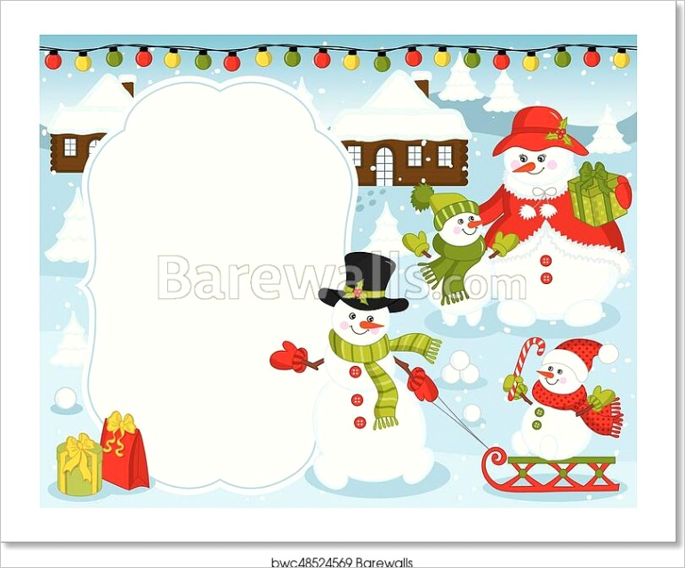 vector christmas and new year card bwc