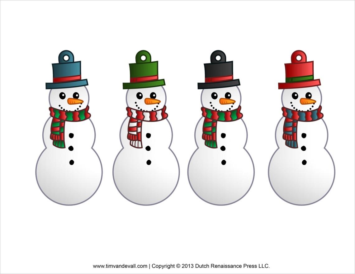 snowman clipart template