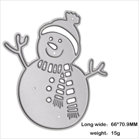 1pc snowman stencil cutting s scrapbooking card album punching template 59de3d569fc5737e324ac4a2