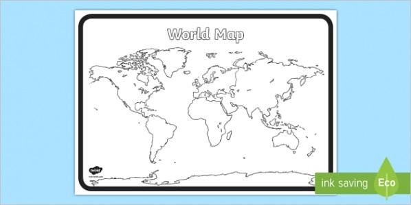 au g 45 blank world map