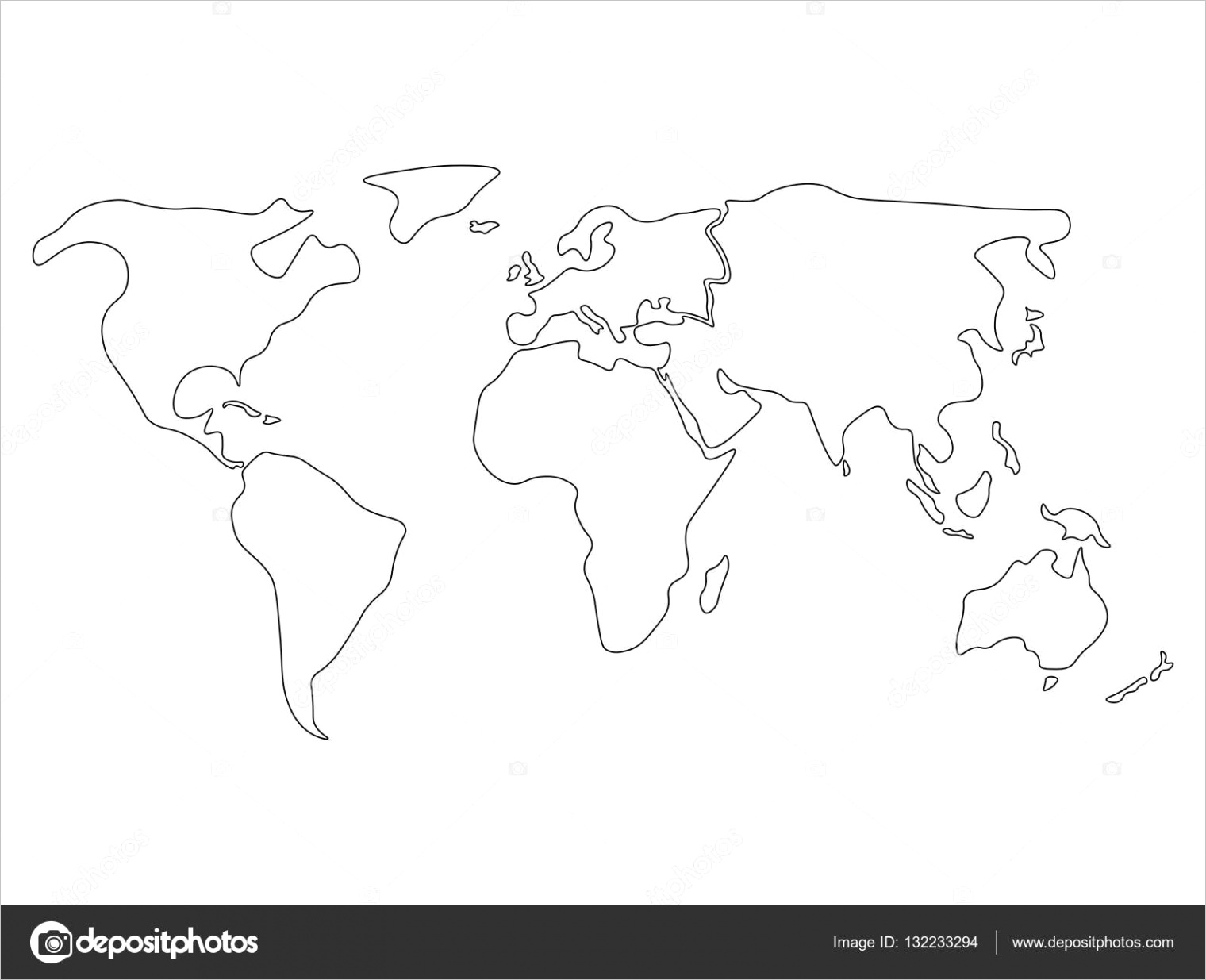 stock illustration simplified world map divided toml