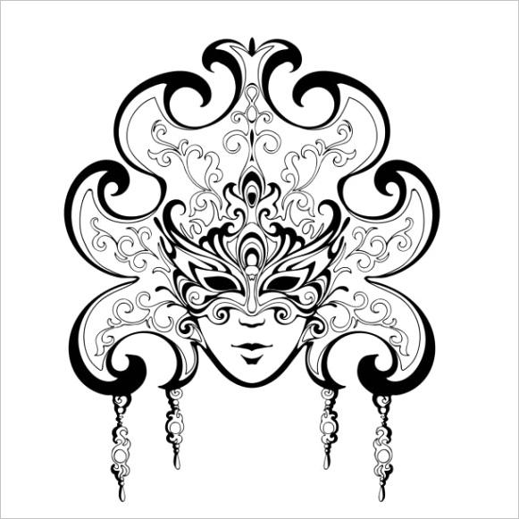 black and white mardi gras masks