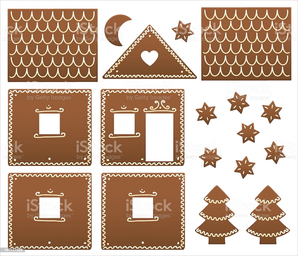 gingerbread house model template gm