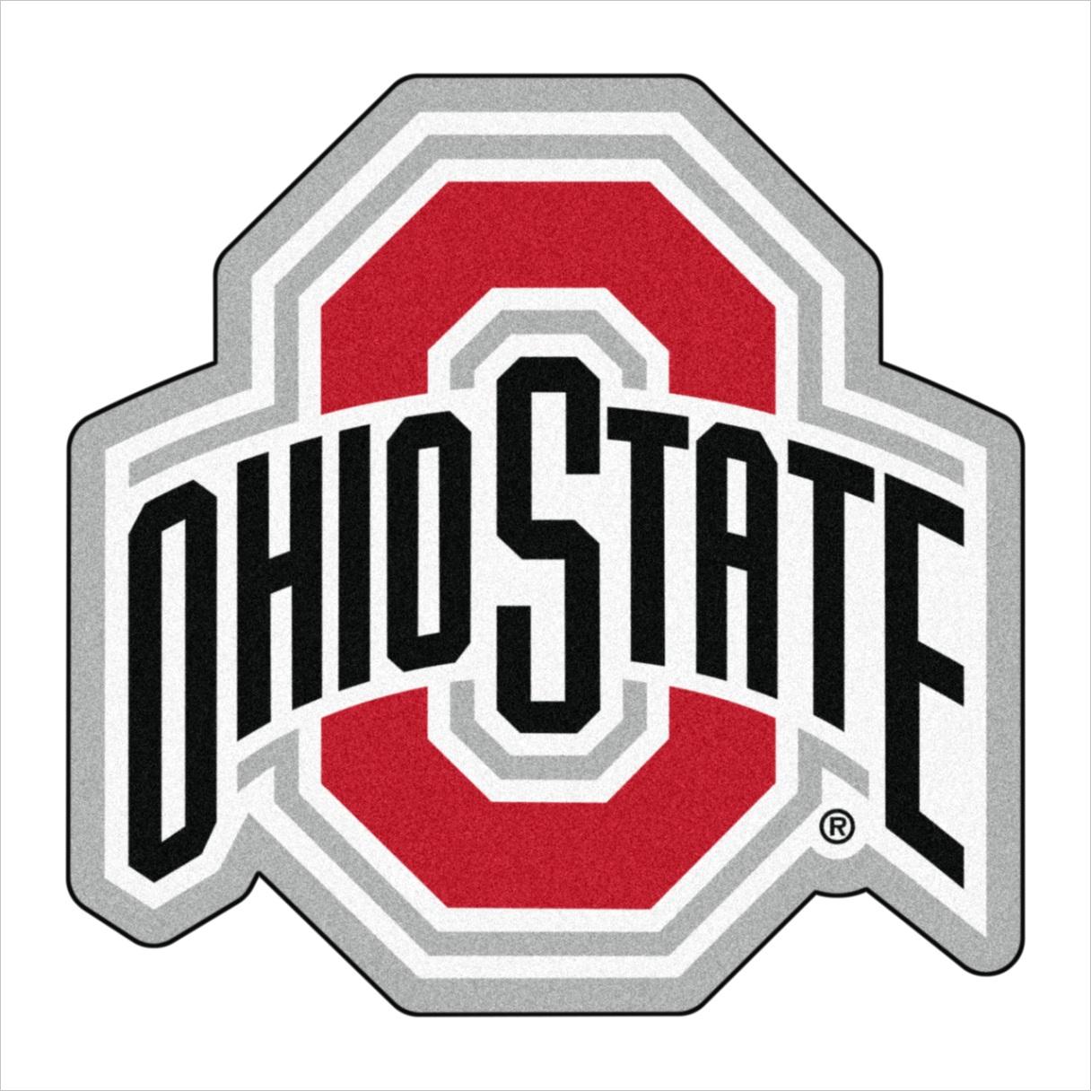 ncaa ohio state university buckeyes mascot mat custom shape rugs