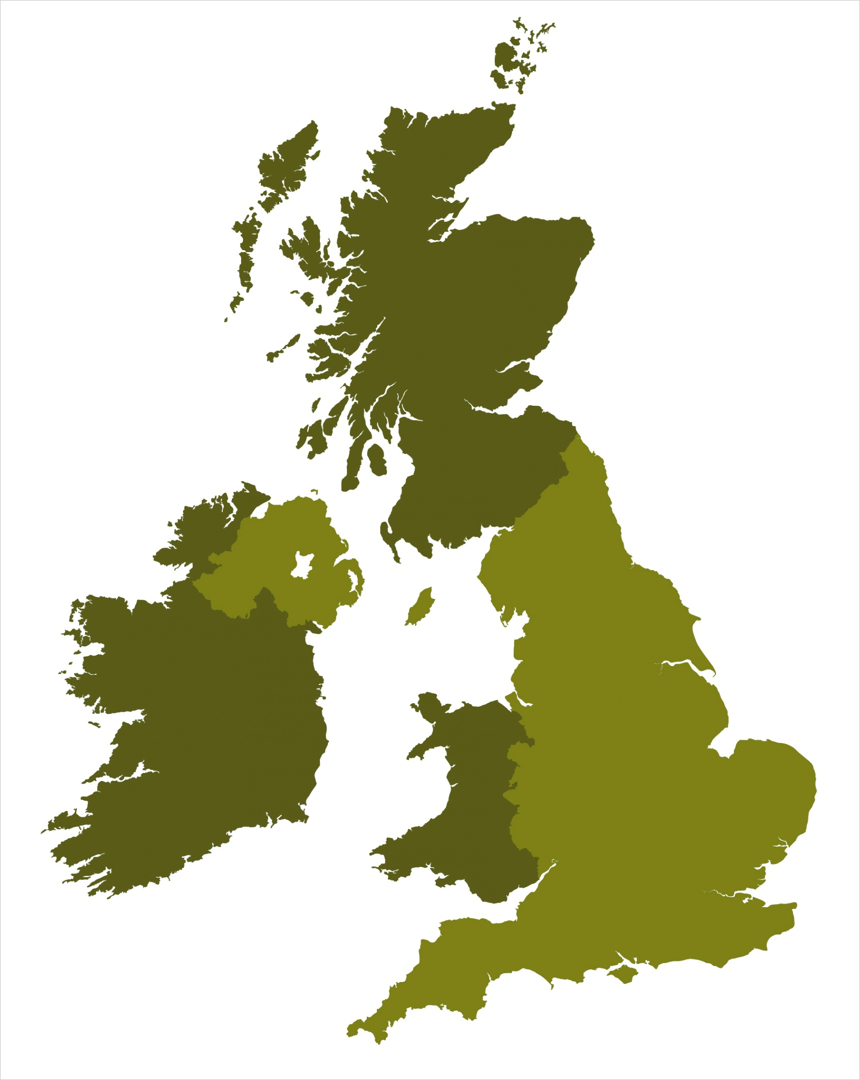 simple outline map of britain