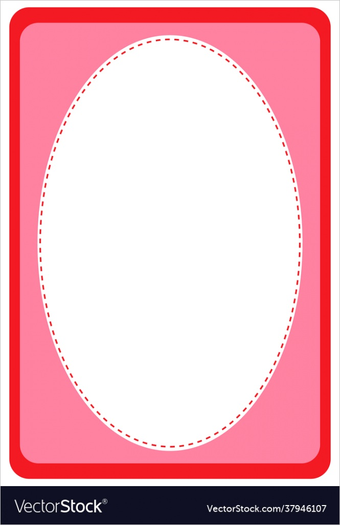 empty oval shape banner template vector