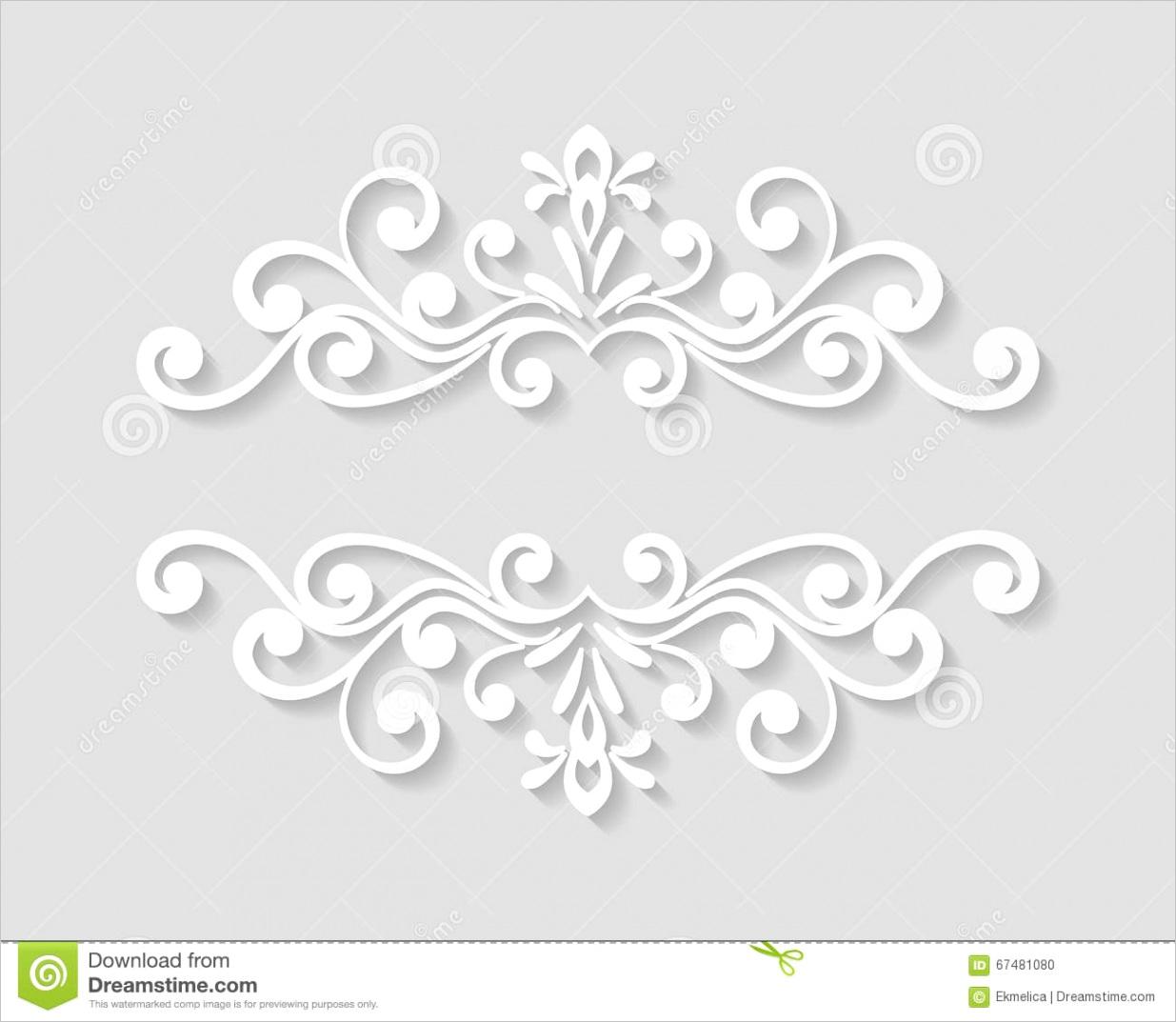 elegant paper retro floral borderml