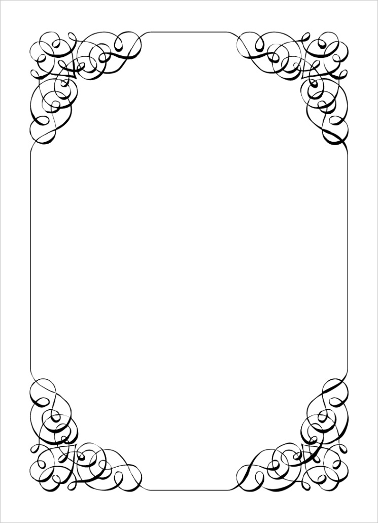 free printable border designs for paper black and whiteml