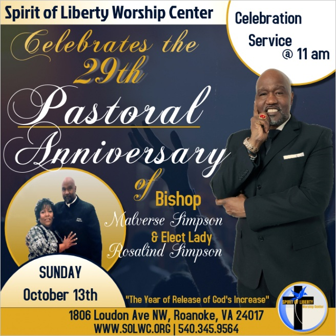 pastor anniversary service design template