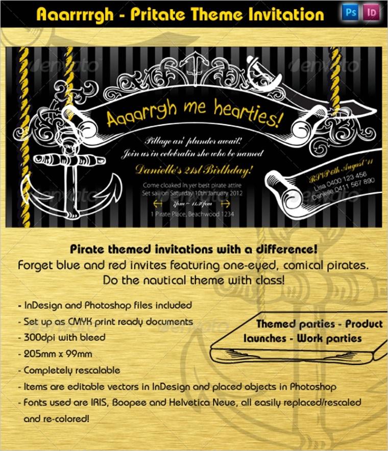pirate party invitationml