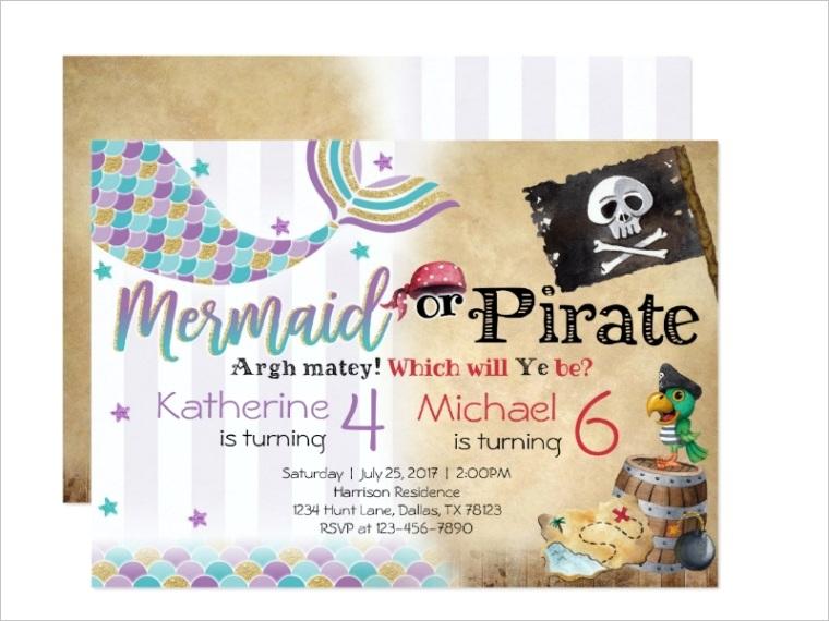 pirate birthday invitationml