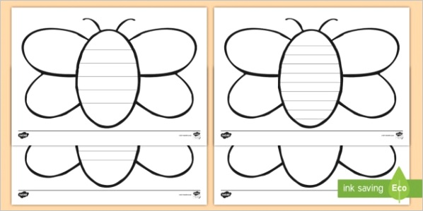 t tp 5965 bee writing template writing template
