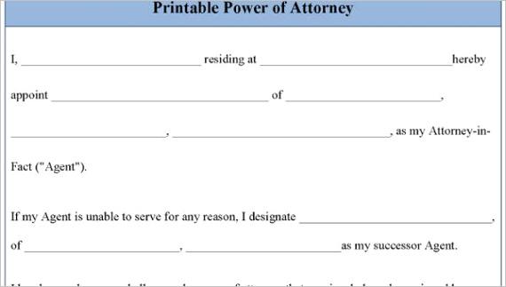 sample power of attorney formsml