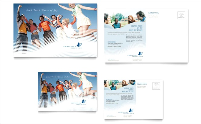 Christian Ministry Postcard Templates RO Dx