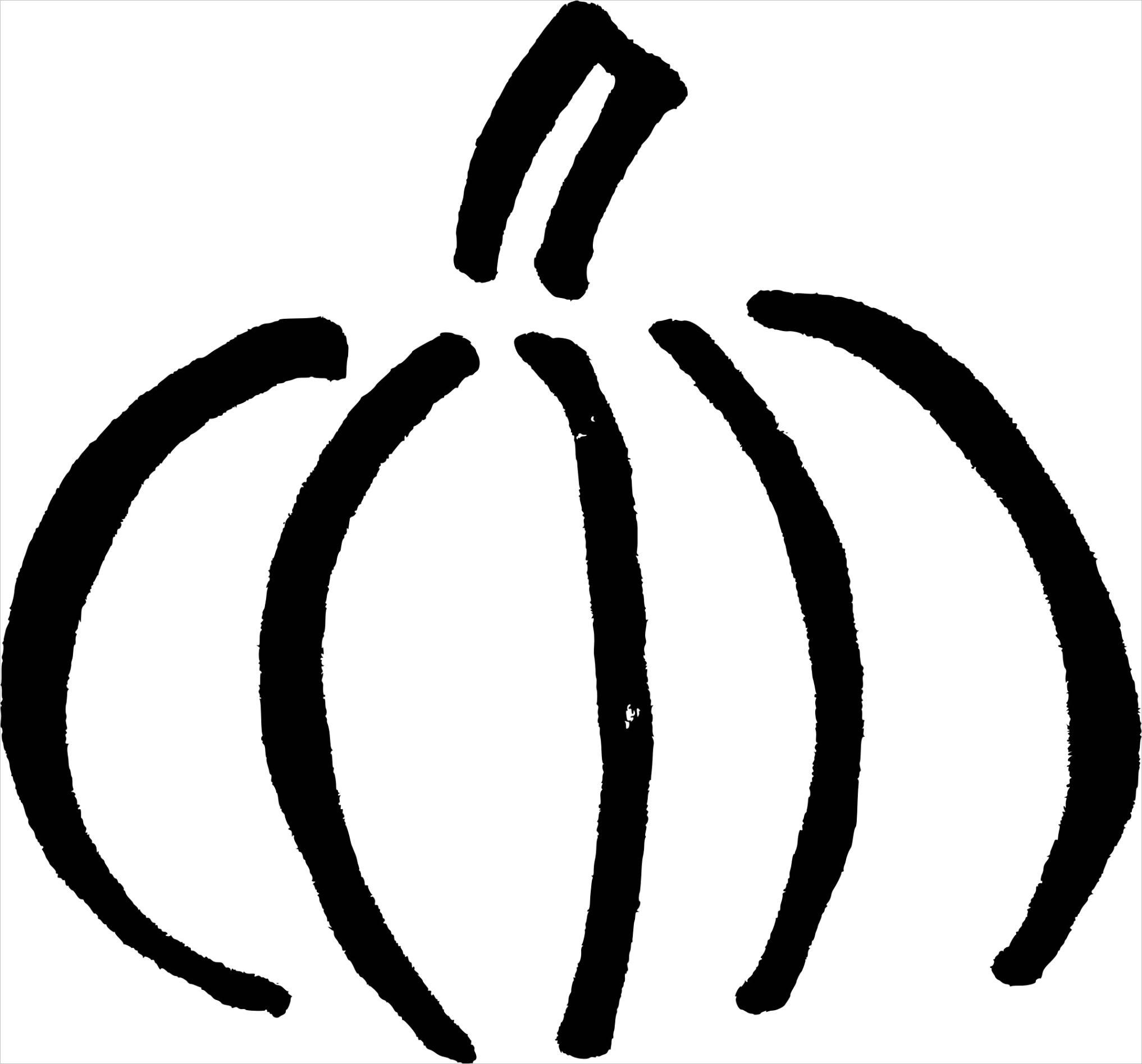 hand drawn pumpkin clipart outline