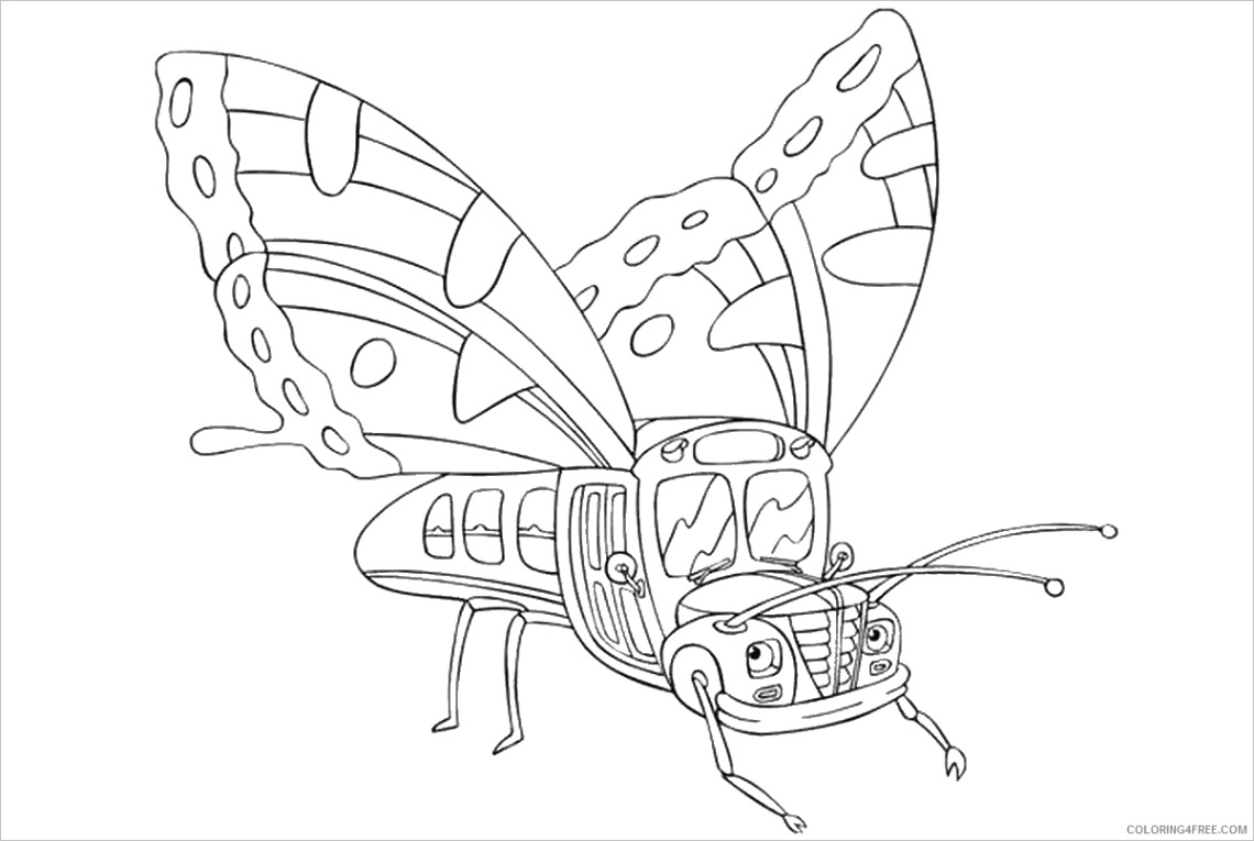 the magic school bus coloring pages cartoons magic school bus cl02 printable 2020 6474 coloring4free