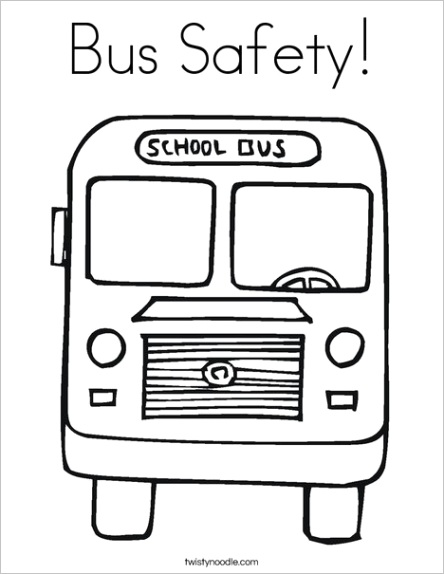 bus safety 2 coloring page