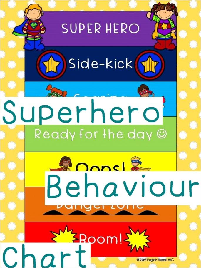 superhero behaviour chart tracking sheet classroom management tips