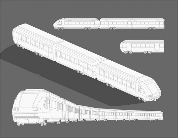 realistic steam modern high speed train sketch template coloring page 3d model train cartoon illustration black white coloring paper page story book
