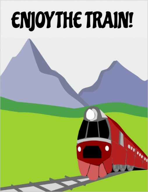 enjoy the train design template