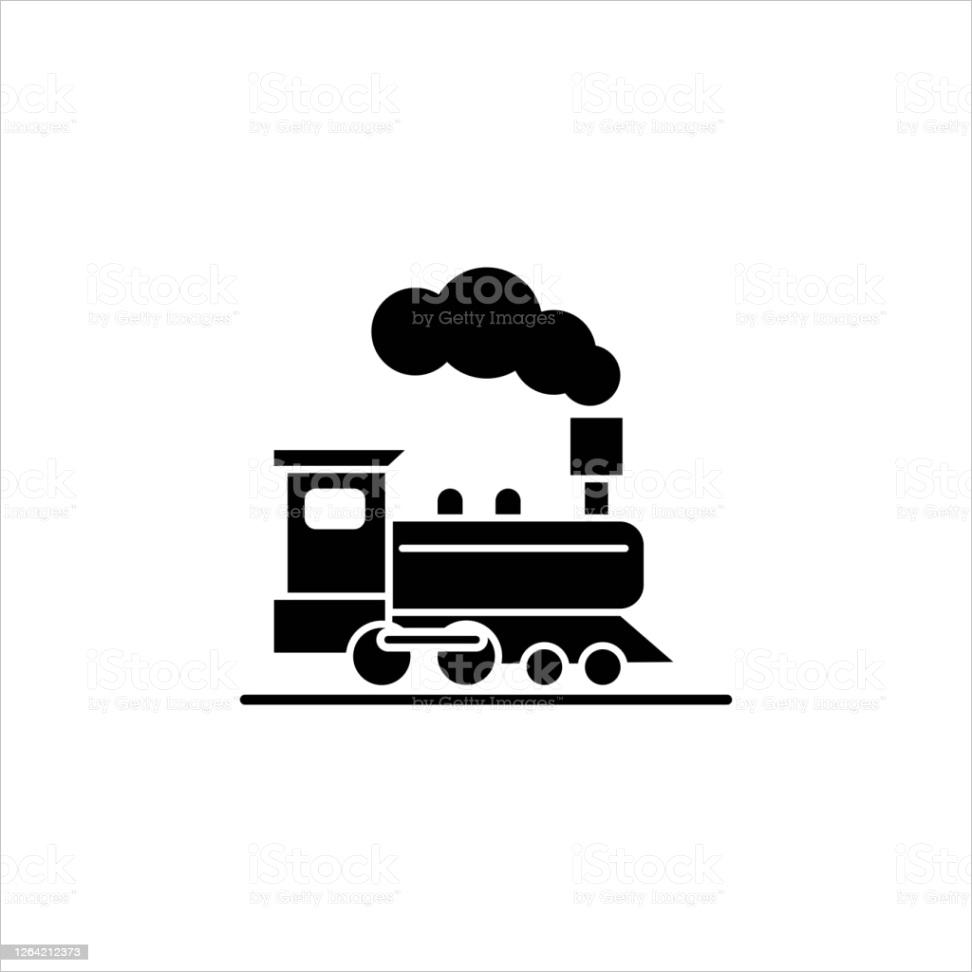 illustration vector graphic of train icon template gm