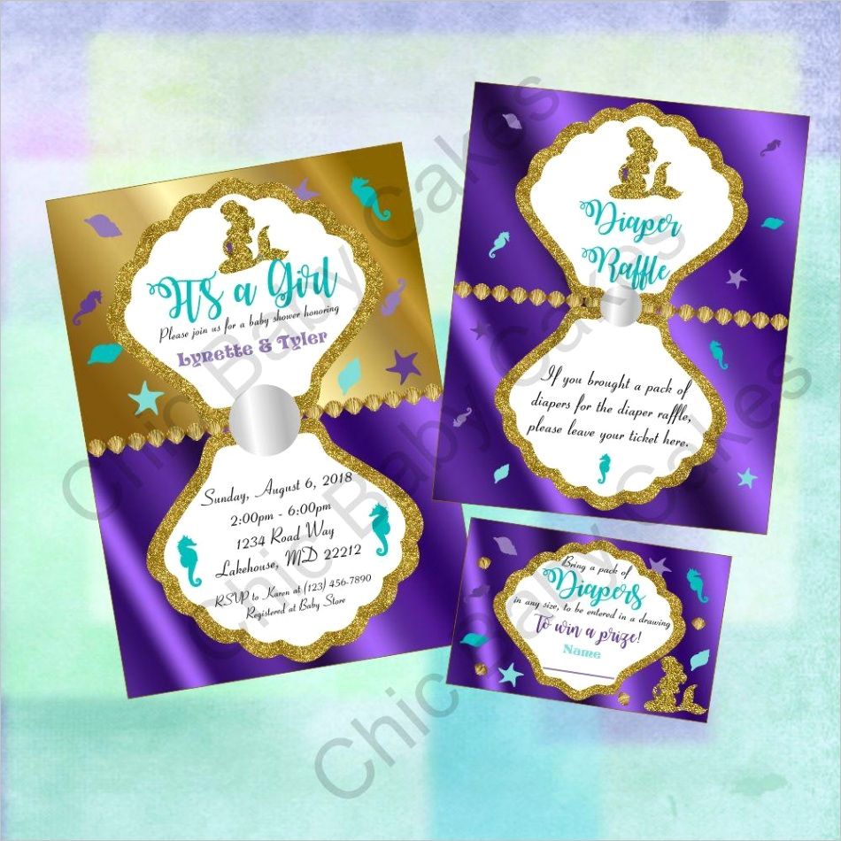 pregnant mermaid baby shower decorations pack