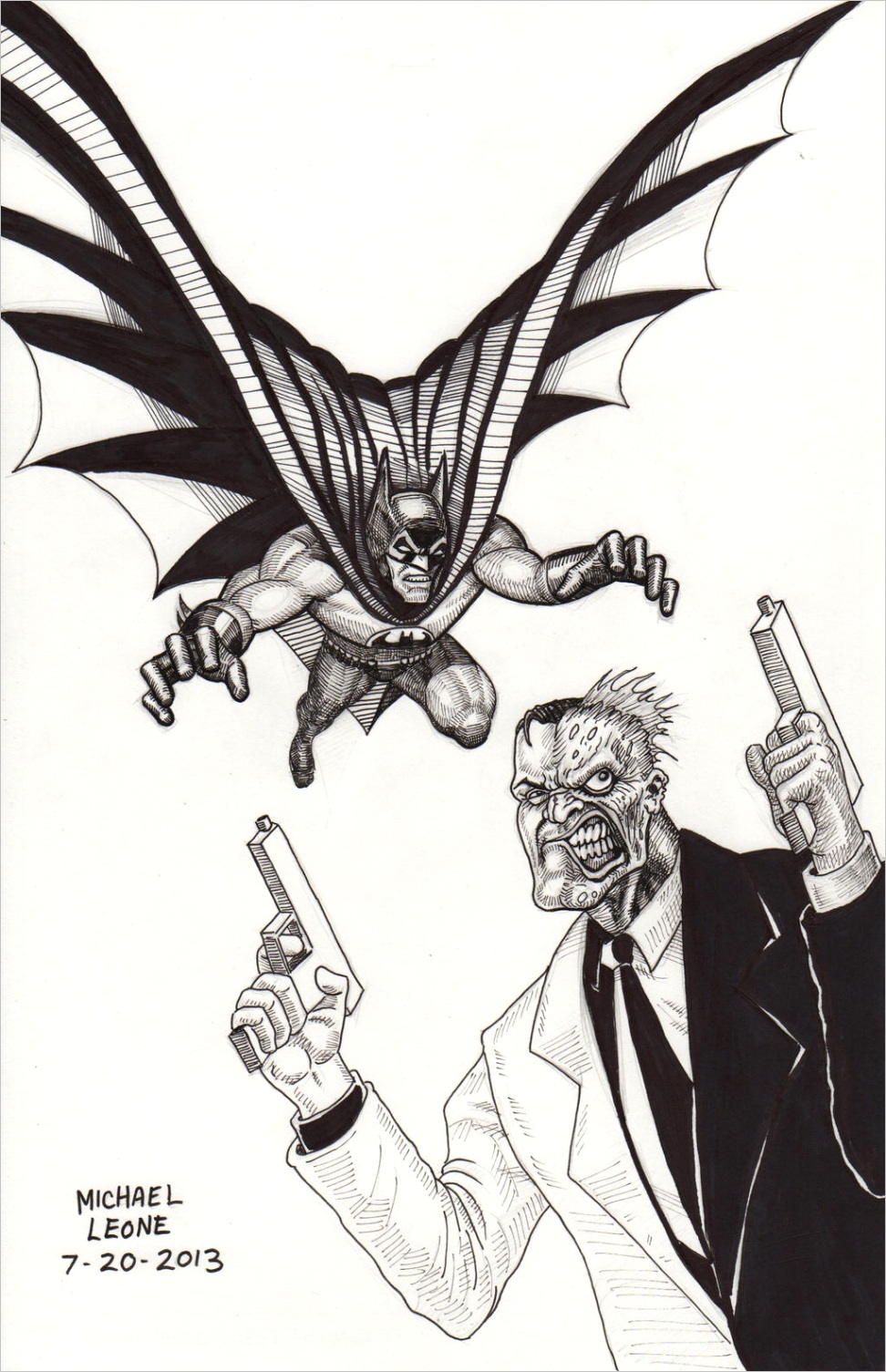 batman vs two face coloring pagesml