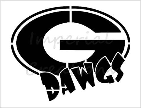 georgia bulldogs logo stencilml